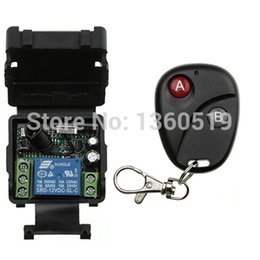 Wholesale Learning Code Transmitters - Wholesale-2016 new DC12V 1CH Learning Code Wireless Remote Control Switch System Receiver and Transmitter Applicance Garage Door