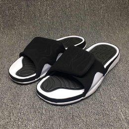 Wholesale Kids Casual Sandals - 2017 Hot Summer Retro 4 Slippers Hydro IV Airs 4s Sandals Men's Outdoor Casual Basketball Sport Slippers Flip Flops Beach Sandals Scuffs Kid