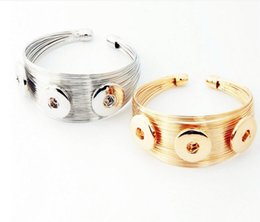 Wholesale Hot Tongs - 18 mm button of foreign trade hot style bracelet accessories Speed sell tong source factory outlet