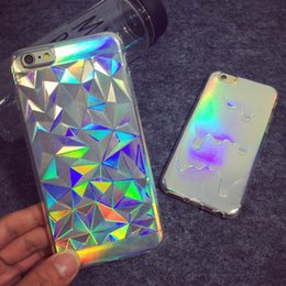 Wholesale Pastel Cases - Luxury Bright Hologram Iridescent Triangle Pastel Melting Soft TPU Phone Back Cover Phone Case For iPhone 5 5S SE 6 6S Plus 7 7plus