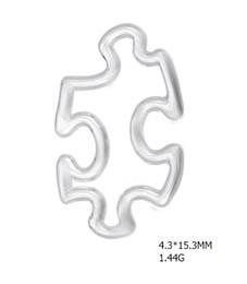 Frete Grátis Banhado A Prata Consciência Do Autismo Enigma Pedaço Pingente Encantos Formas Conectores de Fio Aberto para Pulseira D0pcs de Fornecedores de placa de quebra-cabeça