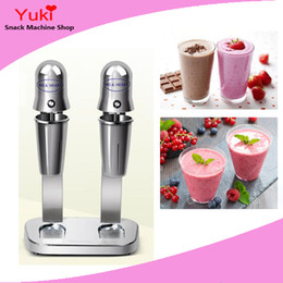 Wholesale Milk Shake Mix - 110v 220v Double Head Commercial Milkshake Machine Milkshake Vending Machine Stainless Steel Milk Shake Mixer Machine Milkshake Maker