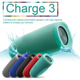 Wholesale Mini Hi Fi Mp3 - Surround Sound Speakers New Charge 3 Portable Wireless Full-feature Waterproof Bluetooth Speaker 1200mAH Rechargeable Battery For Smartphone