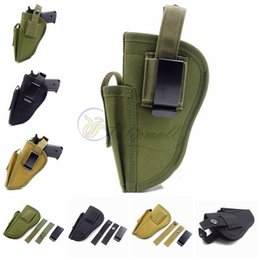 Wholesale Tactical Gun Pistol - Belt Pistol Holster, Tactical Outside Pants Carry Holster Waist Belt Handgun Holster Gun Holster with Magazine Pouch for Most Medium Compact
