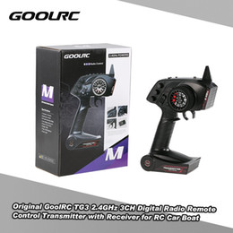 Wholesale Electric Radio Control Airplanes - Original GoolRC TG3 2.4GHz 3CH Digital Radio Remote Control Transmitter with Receiver for RC Car Boat RM5625