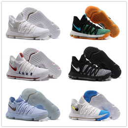 Wholesale Pearl Cream Day - 2017 new arrival KD 10 Basketball Shoes Men White Tennis Kevin Durant 10 X 9 Kds Elite Floral Aunt Pearls Easter Sport Shoes