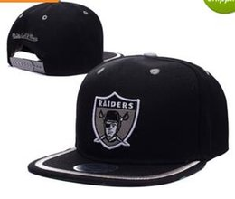 Wholesale Bills Snapback - 2017 New fashion Snapback Caps Leather Bill Cap Black bone Oakland Hat Baseball Casquette High Quality Sport gorras Adjustable Hats for men
