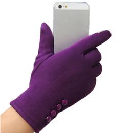 Wholesale Dark Purple Gloves - Cheap Hot Autumn Winter Warm TouchScreen Gloves Fashion Women Outwear Gloves TouchScreen Sport Ski Gloves Mittens W2