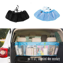 Wholesale Car Seat Covers Storage - Car Trunk Organizer Seat Cover Toys DVD Storage Container Bags Automobiles pouch Auto Styling Accessories