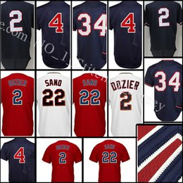 Wholesale Kirby Puckett Jersey - stitched #22 Miguel Sano 2 Brian Dozier jersey Men 4 Paul Molitor 34 Kirby Puckett Baseball jerseys Cheap wholesale Free Shipping