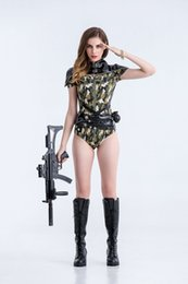 Wholesale Sexy Female Soldiers - Camouflage Color Policewoman Colthes Soldier Costumes Sexy Women Uniform Female Army CS Uniform Military Instructors Cosplay Clothes