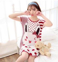 Wholesale Design Girls Army - Factory wholesale price! comfortable Cartoon pattern Girl Nightdress Simple design Relaxed Nightdress Lovely live wave Bathrobe Nightdress