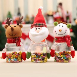 Wholesale Snow Coat For Kids - candy jar christmas santa claus snow man elk shape popular decoration gifts for childs kid adult festival party use toynon-woven fabrics PC