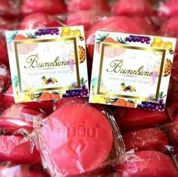 Wholesale Skin Whitening Essential Oils - Bumebime Handmade Whitening Soap with Fruit Essential Natural Mask Skin Body Smooth White Bright Oil Soap 100g