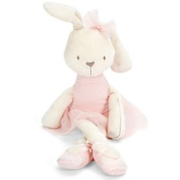 Wholesale Calming Baby Toys - Baby Rabbit Toy Doll Ballet Sleeping Comfort Doll Plush Toys Smooth Obedient Rabbit Sleep Calm Doll Birthday Gift 44cm