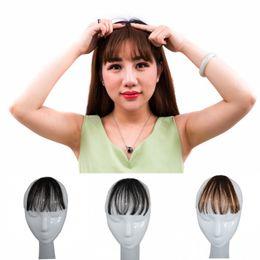 Argentina Sara Manual Air Bangs 100% Clip de pelo humano en cabello natural Fringe frontal Bang Extensión del pelo Frange Hairpiece 3CM * 14CM Suministro