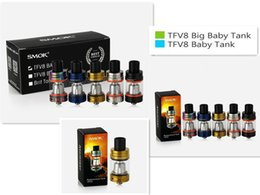 Wholesale Blue Beast - Single Packing TFV8 Baby   TFV8 Big Baby Cloud Beast Tank SS Black 7-color Blue Gold for SMok Stick V8 Alien Baby Kit