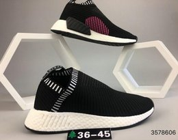 Wholesale High Top Running Shoes Women - Very popular top MAN womens sports SHOES NMD City Sock PK high quality Mens Running Shoes blue black white color 2018 drop shipping 36-45