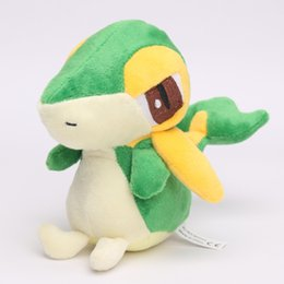 Wholesale pokemon plush dolls - 5pcs Anime Poke doll pikachu Snivy Plush Doll Toy 14cm Soft Stuffed toy Animals & Plush peluche Snivy Children Baby Gift