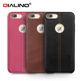 Wholesale Iphone Patterned Case - Case for iPhone 7 Deer Pattern Leather Back Cover Luxury Case for Apple iPhone plus 7 Slim Fashion phone case 4.7 5.5 inch