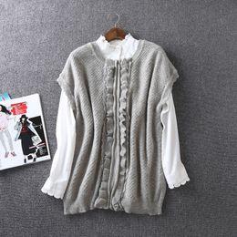 Wholesale Girls Knit Cardigan Vest - Wholesale- Women Sleeveless Vest Knitting Vest Zipper Cardigans Sweaters Ladies Blend Mori girl Female Thin Waistcoat Soft Tank knitted 6
