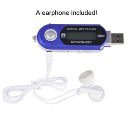 Wholesale Usb Memory Mp3 Player - Wholesale- Portable Mini 4GB memory USB MP3 Music Player HD LCD Screen Support Voice Recorder FM Radio MP3