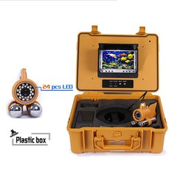 """Wholesale Cable Camera Ccd Color - 7"""" Color LCD Monitor Fish Finder System 800tvl CCD Waterproof Camera Fishing 20 30 50 100m Cable Underwater Fishing Camera with Carry Case"""