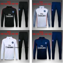 Wholesale High Tops Children - 017 paris Children wear Tracksuits top quality 16-17 cavani di maria Training suit High quality Tracksuits kids football training jackets