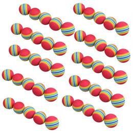 2019 оптовая торговля Wholesale- Free Shipping 50pcs/bag Rainbow Color Golf Training Foam Balls Golf Swing Indoor Training Aids Practice Sponge Foam Balls дешево оптовая торговля