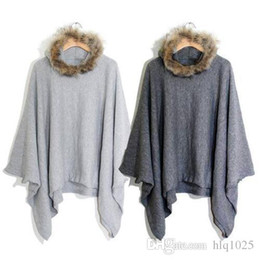Wholesale Batwing Cape Poncho Cloak - Fashion Cape Ponchos Women Batwing Cloak Coat Ladies Long Woollen Winter Coats Casual Overcoat Free Shipping