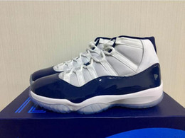 Wholesale Dark Red Mens Boots - 2017 air retro 11 Basketball Shoes men Midnight Navy Sport Shoes Trainers Cheap Athletics Boots Retro 11 XI Mens Sneakers With Box