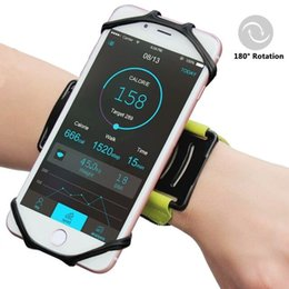Wholesale Arm Phone Holder - Arm bands Wrist phone armband MARSEE Forearm Wristband Phone Holder 180 Degree Rotatable for Running Cycling Jogging for iphone 7 samsung s8