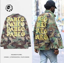 Wholesale Casual Cargo Jacket - Aelfric Eden Pablo Jacket Kanye Camouflage Pablo Mens Jacket Yeezus Jackets Army Cargo Men High Quality Streetwear Coats