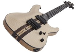 Wholesale Electric Guitar Neck 24 - 6 string Electric guitar C-1 40TH ANNIVERSARY Natural Pearl color Neck-Thru w Ultra Access 24 X-Jumbo Stainless Steel