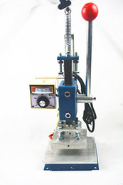 Wholesale Hot Stamp Marking - Manual Hot Foil Stamping Machine Leather Printer Creasing Machine Marking Press Machine Embossing 8x10cm