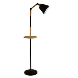 Candeeiros de pé para leitura on-line-Preto Branco Nordic Madeira lâmpada de assoalho crianças decoração sala de estar chão luz para sala de estar iluminação de leitura de cabeceira standlampe