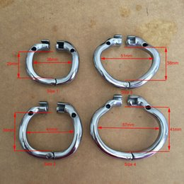 Wholesale Snap Cock - Open Mouth Snap Ring Stainless Steel Chastity Device Cock Ring for Male Sex Toys New Arrival