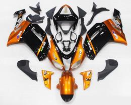 Wholesale Cool Motorcycles For Sale - hot sales! New TOP ABS Motorcycle bike Fairing kits Fit for KAWASAKI Ninja ZX6R 07 08 ZX6R 636 2007 2008 bodywork set cool black orange