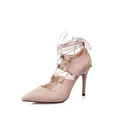 Wholesale American Gladiator - Free Shipping 2017 Summer New Women High Heels Roman-style Sandals hollow European and American Brands Plus Size Pumps