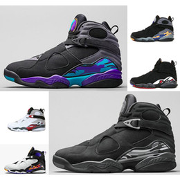 Wholesale Vintage Totem - 2017 vintage 8 air basketball shoes boots to high quality sneakers Retro viii Aqua shoes size size 40-45