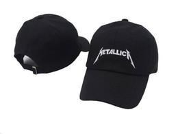 Black Metallica Hat Gorra de béisbol strapback ajustable Desestructurado Papá Sombrero estrella niño niña hip hop sombreros 6 paneles xo hueso gorras casquette swag desde fabricantes