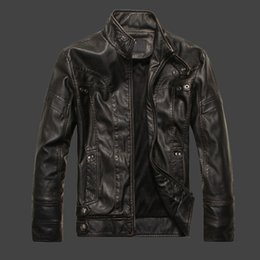 Wholesale Korea Men Pu Jacket - Youth pu leather men and South Korea handsome motorcycle leather jacket men plus cashmere trend coat