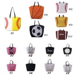 Wholesale Wholesale Fabric Bags Totes - Canvas Bag Baseball Tote Sports Bags Casual Softball Bag Football Soccer Basketball Cotton Canvas Tote Bag