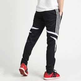 Wholesale Competition Sports - New Running Pants Men Solid Elastic Slim Breathable Quick Dry Soccer Training Football Pants Competition Sport Running Legging