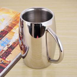 Wholesale Coffee Cup Top - Top Grade 400-500OZ Stainless Steel Tankard Double Walled Mug Insulated Tumbler Milk Coffee Mug Beer Cup Drinkware