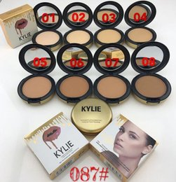 Wholesale Plus Size Professional - Fast Ship Kylie Jenner Face Power Makeup Kylie Face Powder Professional Studio Fix Powder Plus Foundation Press Make Up Cosmetic 8 Colors