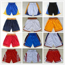 Wholesale Brown Movies - Basketball Shorts Men's Shorts New Breathable Sweatpants Teams Classic Sportswear Basketball Mens movie Tune Squad Space Jam Shorts
