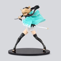 Wholesale Ace Good - Anime Figures 21 CM Fate Stay Night Fate KOHA-ACE Sakura Saber Okita Souji PVC Figurine Collection Model Toys Dolls Brinquedos