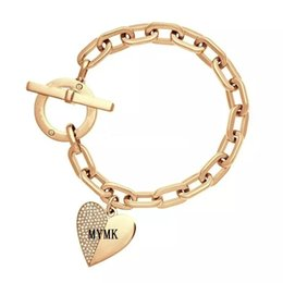 Wholesale Bracelet Jewelry Love Crystal - New York Fashion Brand Tone letters bracelet Crystal love heart charm bracelets fashion wedding Jewellery brand jewelry for women