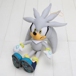 Juguetes de erizo online-32 cm Sonic The Hedgehog de peluche de juguete Sonic Toy Felpa muñeca de peluche suave juguetes para niños regalo para niños juguetes